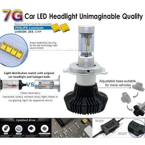 Car LED Headlamp Kit UP-7HL-9012W-4000Lm (HIR2, 4000 lm, cold white) Preview 3