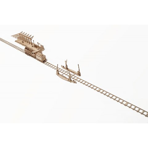 Механічний 3D-пазл UGEARS Рейки з переїздом - /*Photo|product*/