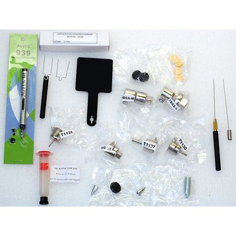 Lead-Free Hot Air Soldering Station AOYUE 2702 with Soldering Gun Preview 1